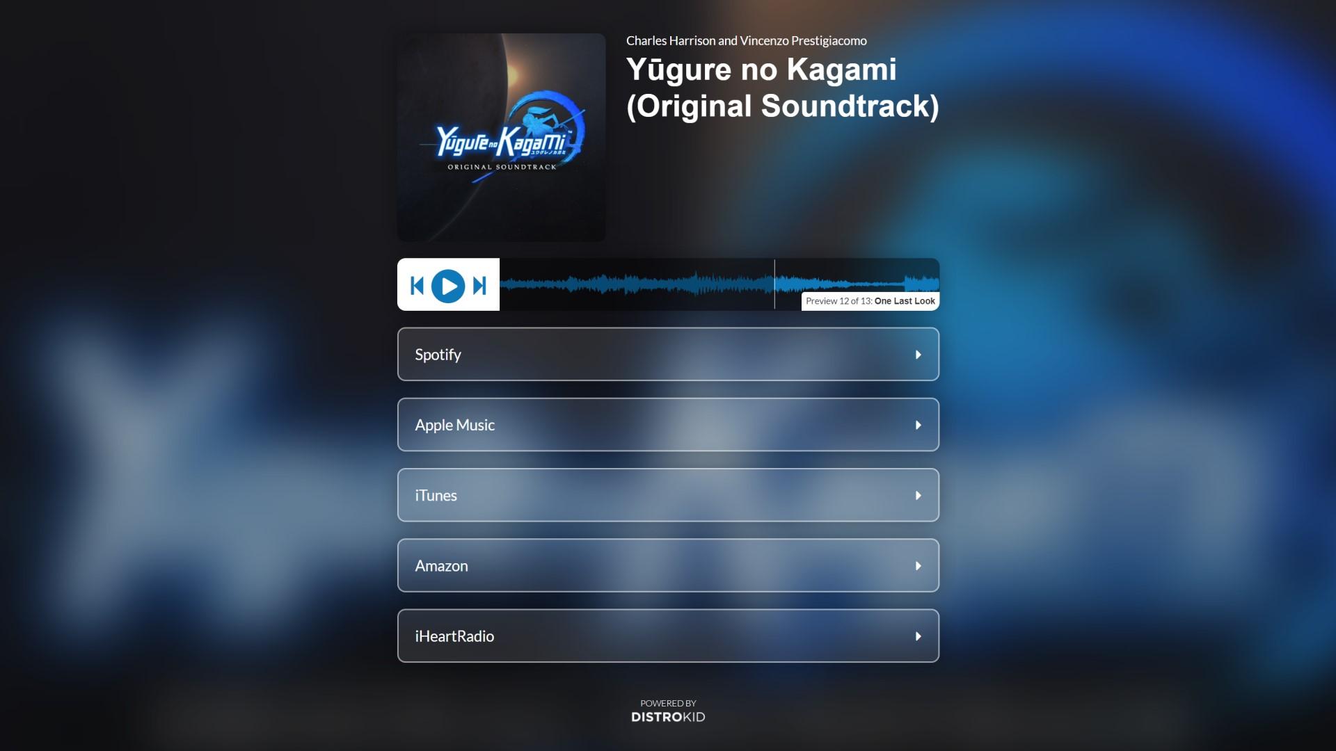 Yugure no Kagami Original Soundtrack on DistroKid